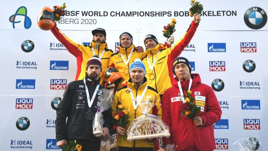 MenSkel BMW IBSF World Championships 2020 Altenberg podium 1-6